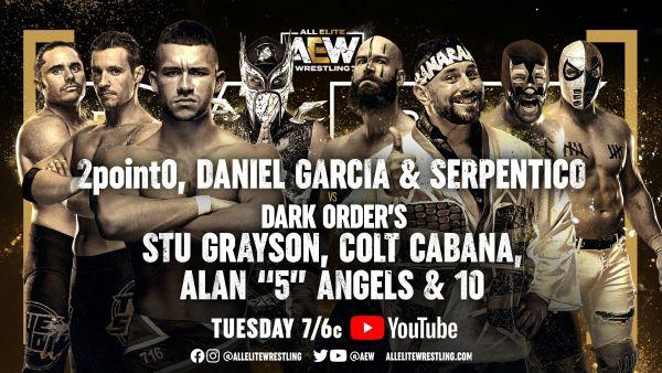 AEW Dark Eight Man Tag Team Action