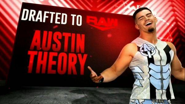 Austin Theory Drafted Monday Night Raw