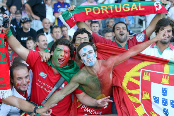 Supporters of the Portuguese rugby union