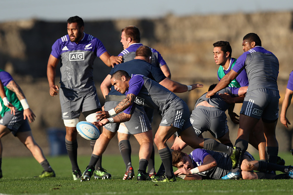 New Zealand All Blacks Training Session and Press Conference