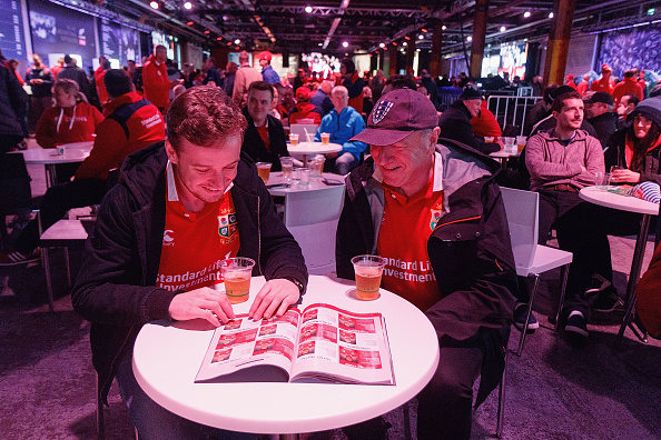 Fans In New Zealand Watch All Blacks v British & Irish Lions