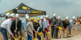 Houston SaberCats break ground on new AVEVA Stadium