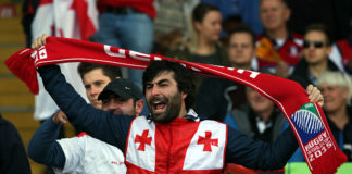 "Georgia rugby fans call out ""Lelo, Lelo Sakartvelo"""