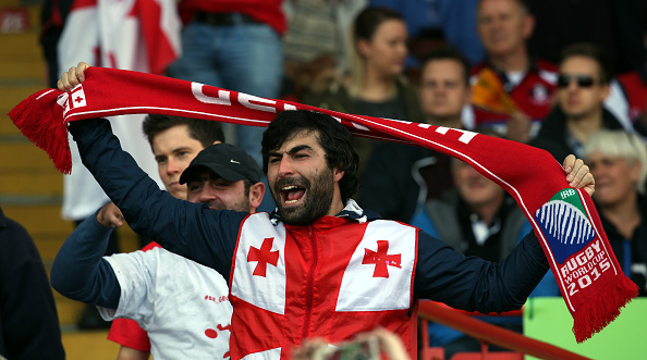 "Georgia rugby fans call out ""Lelo, Lelo Sakartvelo"""
