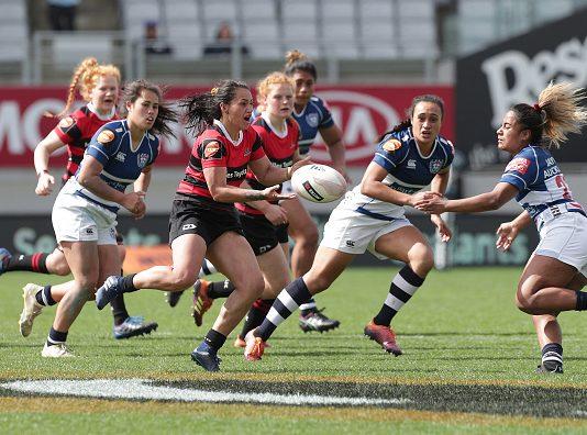 Canterbury v Auckland final in 2019 Farah Palmer Cup