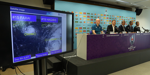 Typhoon Hagibis sees World Rugby sides 'duck for cover'