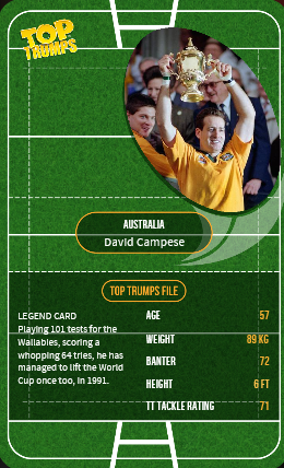 rugby union 'Top Trumps'