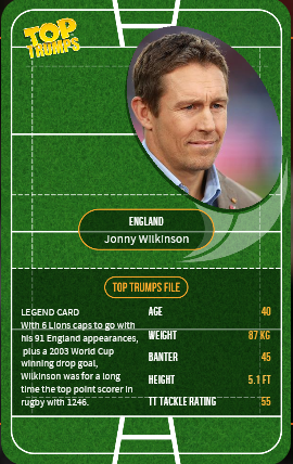 rugby union 'Top Trumps