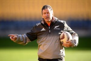 Coach Wayne Smith (then an assistant coach) during an All Blacks training session