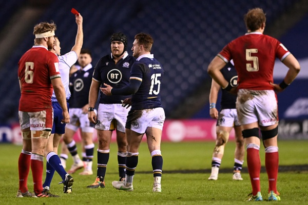Rugby red cards