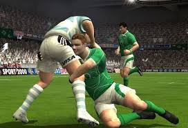 Rugby 08 EA Sports game image, featuring Brian O'Driscoll