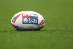 Super League Grand Final Rugby League match ball at Old Trafford