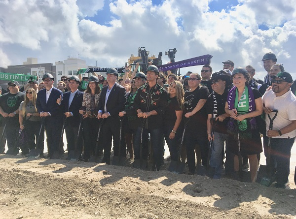 Austin FC break ground