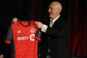 TFC president Bill Manning unveiled the then new 2017 primary jersey