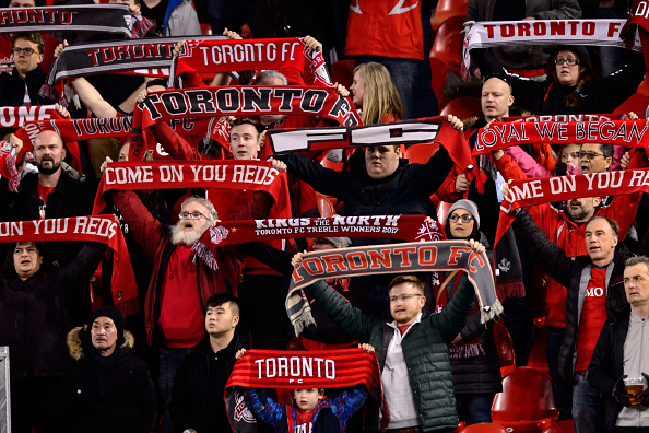 Toronto FC fans sees game between Toronto FC and New York City FC in 2019