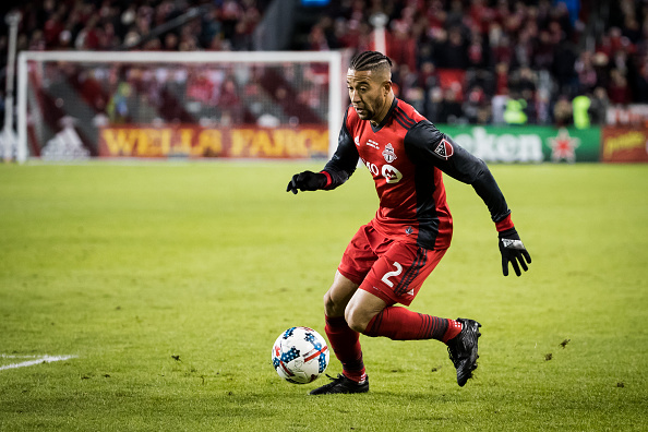 Justin Morrow in the 2017 Audi MLS Championship Cup against the Seattle Sounders FC