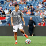 CF Montreal player Joaquin Torres before a game at Gillette Stadium