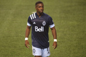 Vancouver Whitecaps FC player Cristian Dájome during the second half in Seattle, Washington