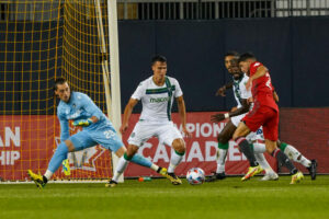 Toronto FC Jonathan Osorio shot is saved at BMO Field