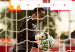 2021 Canadian Championship Quarterfinals Forge FC Goalkeeper Triston Henry at Tim Hortons Field