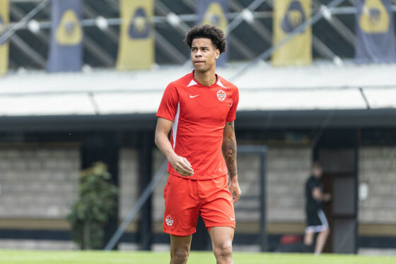 CanMNT player Tajon Buchanan at the Men's National Training Session on October 6