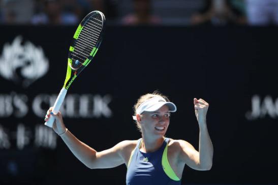 Caroline Wozniacki Australian Open Day 1