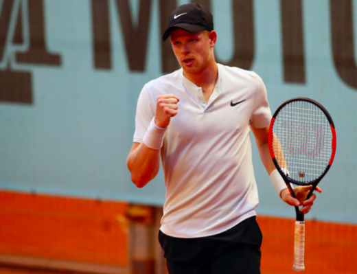 Kyle Edmund records win over Novak Djokovic in Madrid
