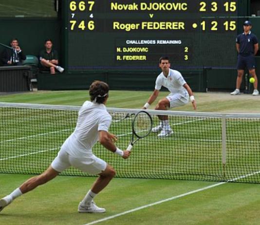 Novak Djokovic Roger Federer Wimbledon
