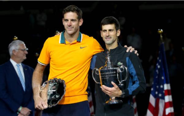 Novak Djokovic and Juan Martin del Potro US Open