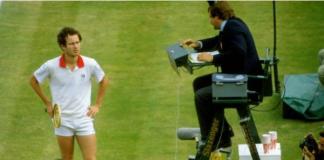 John McEnroe during on-court altercation