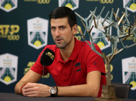 Novak Djokovic Paris Masters