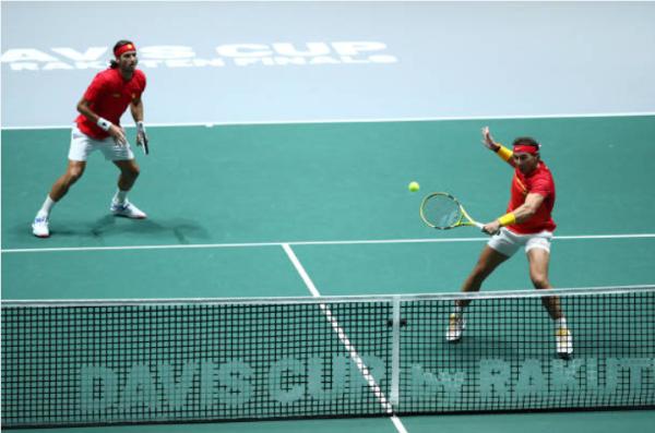Rafael Nadal and Feliciano Lopez Davis Cup final