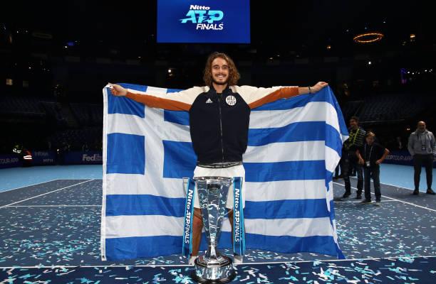 Stefanos Tsitsipas ATP Finals Trophy 2019