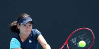 Nao Hibino at the Australian Open qualifying