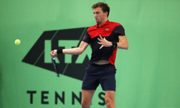 Arthur Rinderknech in action on the Challenger Tour