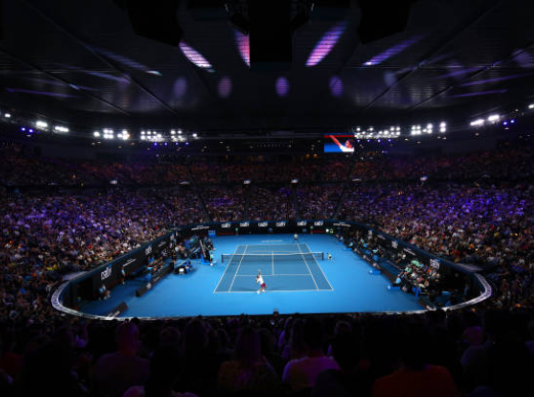 Rod Laver Arena ahead of the Australian Open