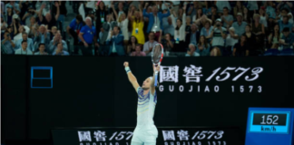 Dominic Thiem at the Australian Open