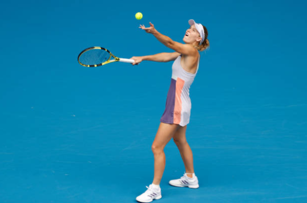 Caroline Wozniacki at the Australian Open