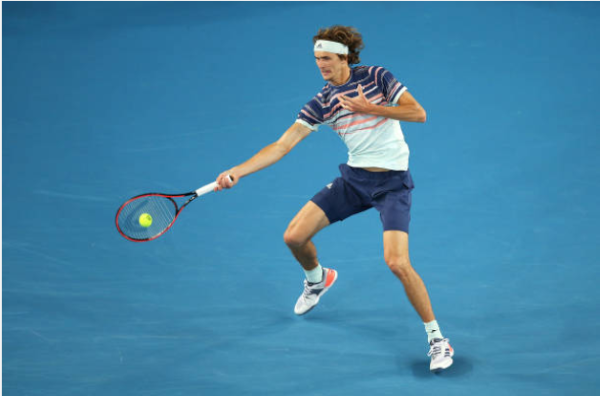 Alexander Zverev at the Australian Open