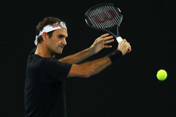 Australian Open Day 1 Roger Federer