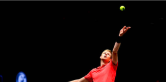 Kyle Edmund at the Mexican Open