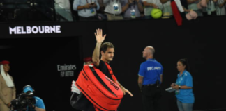 Roger Federer in defeat at the Australian Open