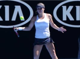Jana Fett in action on the ITF Tour