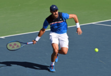Steve Johnson at the Delray Beach Open