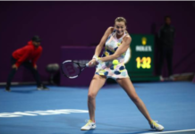 Petra Kvitova at the Qatar Open