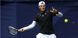 Ilya Marchenko in action on the Challenger Tour