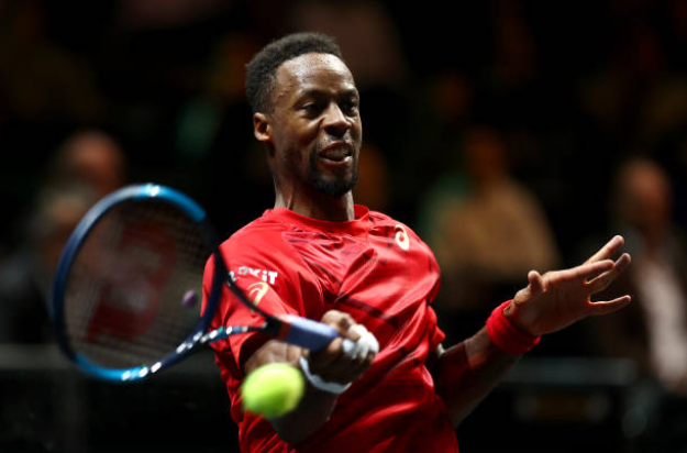 Gael Monfils at the Rotterdam Open