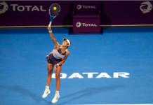 Garbine Muguruza at the Qatar Open