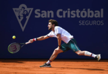 Joao Sousa at the Chile Open