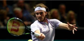 Stefanos Tsitsipas at the Marseille Open